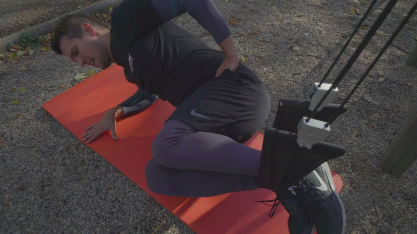 XUP Suspended sideplank crunches - abs and core workout