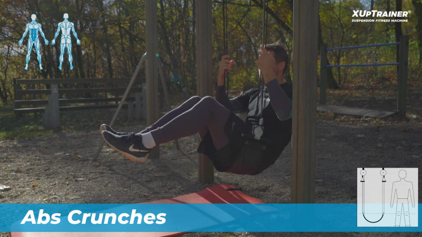 XUP Abs crunches - exercises for flat abdomen
