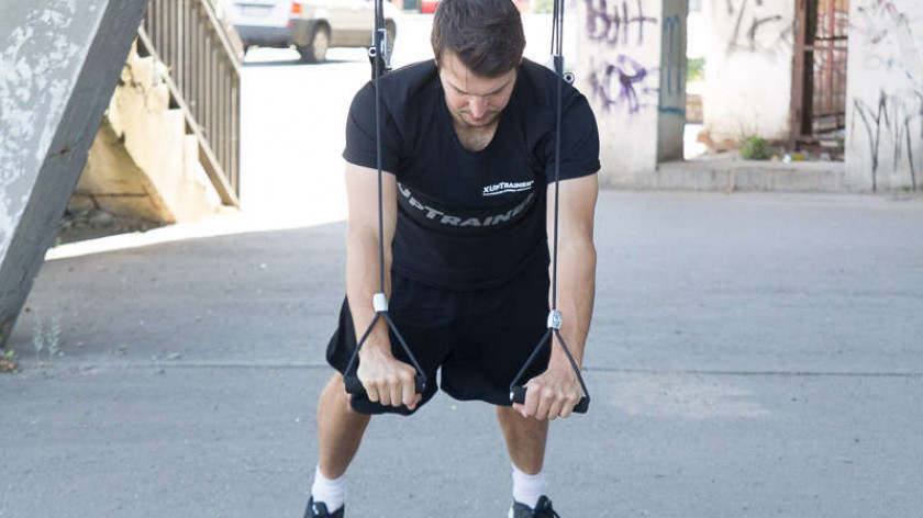 XUP Push Ups with Squats - total body workout