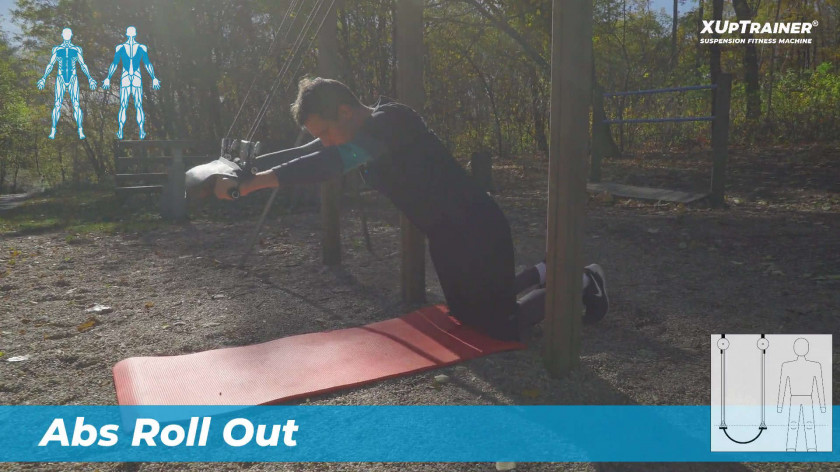 XUP Abs roll out - workout for abdomen and core