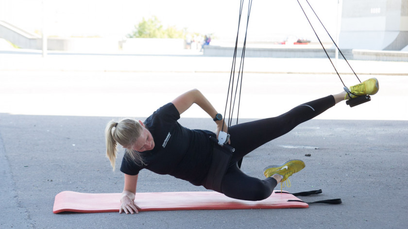 XUP Sideplank Adductor - best exercise for inner thighs, waist and abs