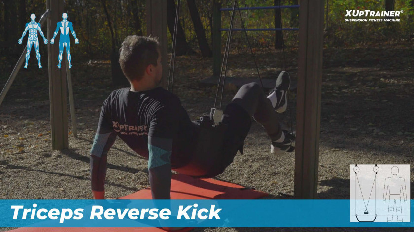 XUP Triceps Reverse Kick - effective for glutes, hamstrings and triceps