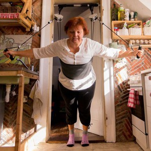 Hang the XUP in the kitchen and do your exercise before your pasta is ready..